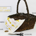 Cookies and Cocktails colab- DIY pic nic basket lining