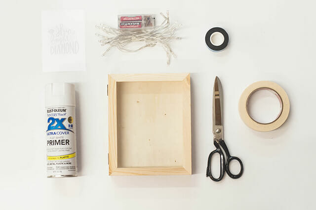 DIY Fairy Light Box Frame | Zana