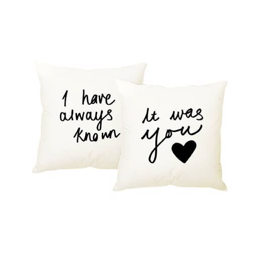 his and hers cushion set